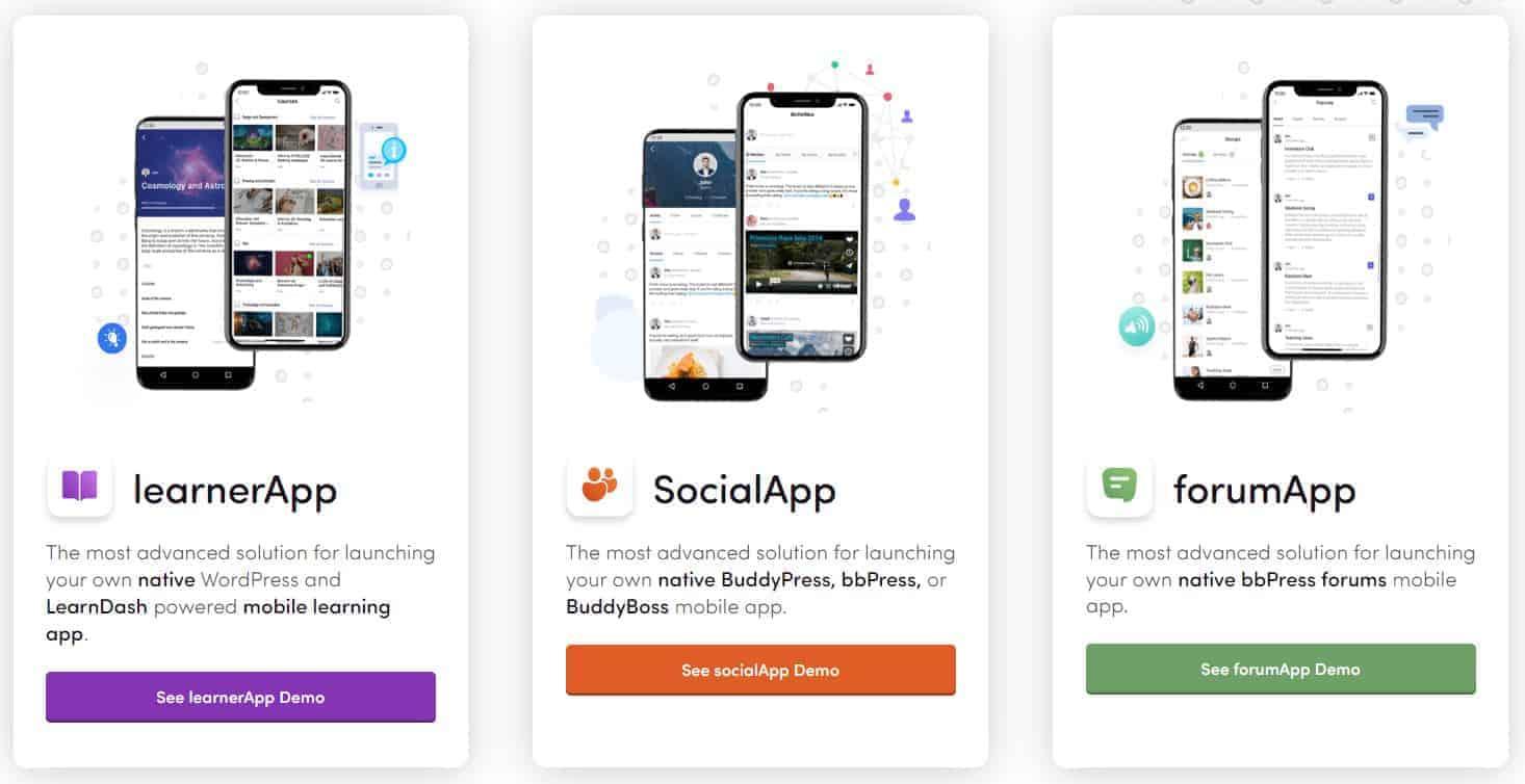 applications mobiles Buddyboss