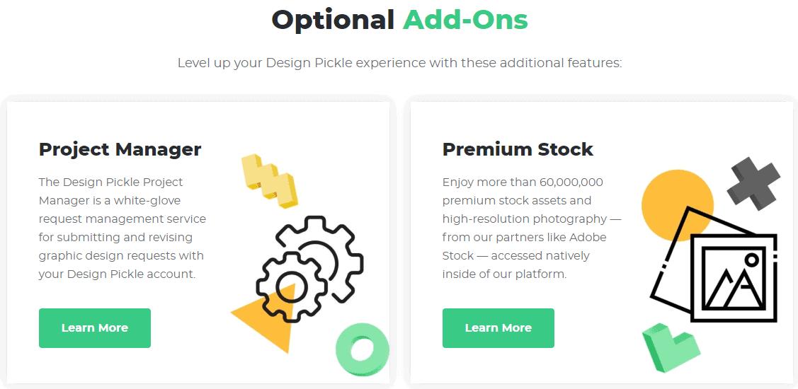 Design Pickle addons
