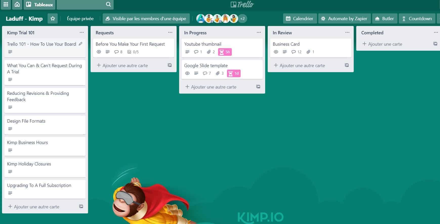Trello kimp (Aufgaben)